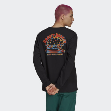 Men Originals Black The Simpsons Krusty Burger Long Sleeve Tee