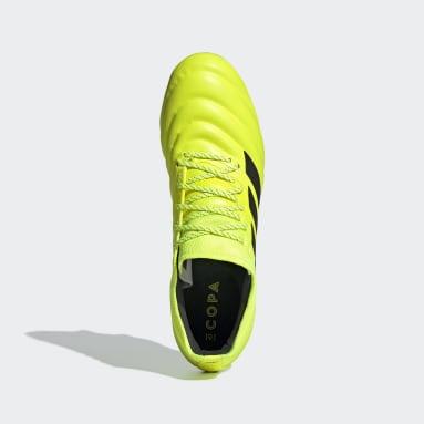 Chaussure Copa 19.1 Terrain gras Jaune Football