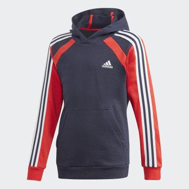 Boys Fitness Og Træning Blå Comfort Colourblock hættetrøje