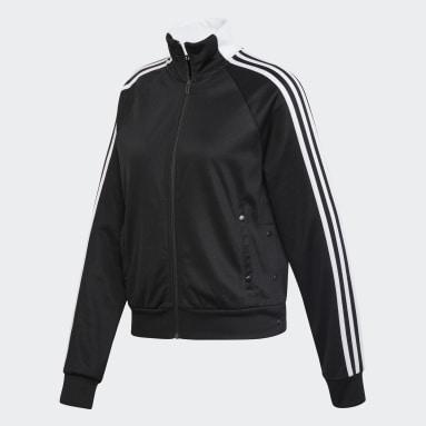 Women Sportswear Black ID 3-Stripes Snap Track Top