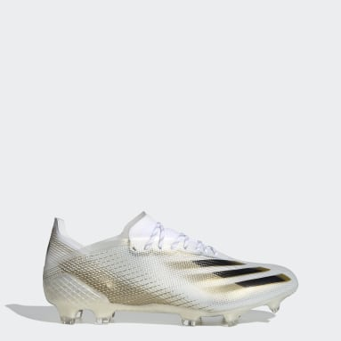 Soccer White X Ghosted.1 Firm Ground Soccer Cleats