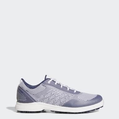 Kvinder Golf Hvid Alphaflex Sport Spikeless Golf sko