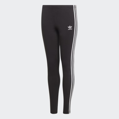 Girls Originals Black 3-Stripes Leggings
