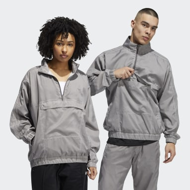 Originals Garment Dyed Windbreaker Grau