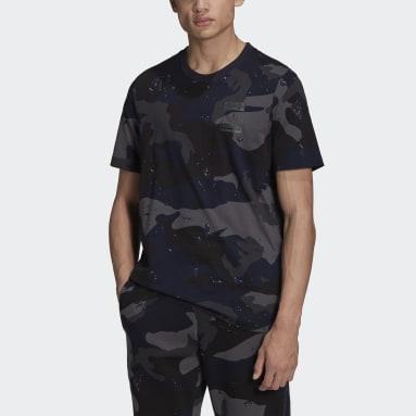 Men Originals Blue Graphics Camo Allover Print T-Shirt