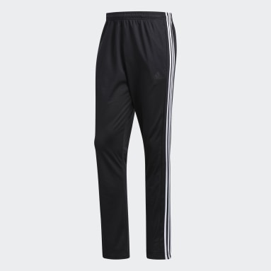 Men Gym & Training Black 3-Stripes Pants