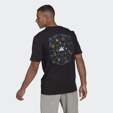 Men's Sportswear Black Mandala Graphic Tee