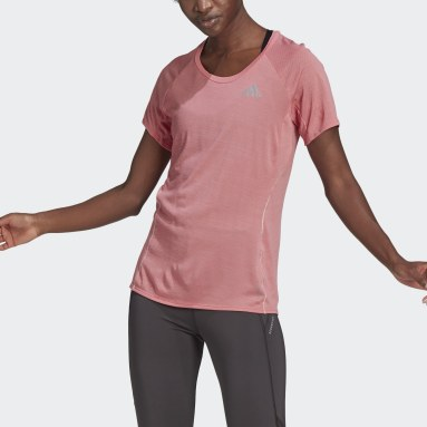 Women Running Pink Runner T-Shirt