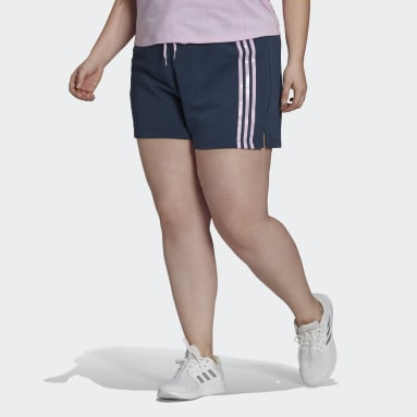 Women's Essentials Blue adidas x Zoe Saldana AEROREADY Shorts (Plus Size)