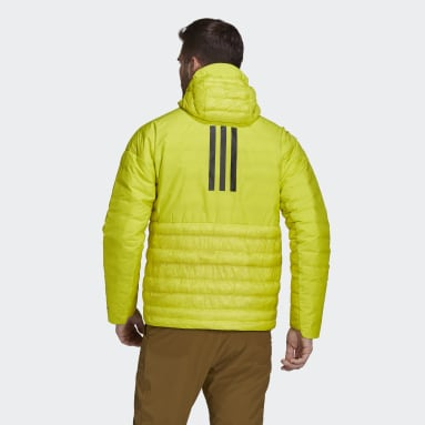 Men TERREX Yellow Terrex MYSHELTER Down Hooded Jacket