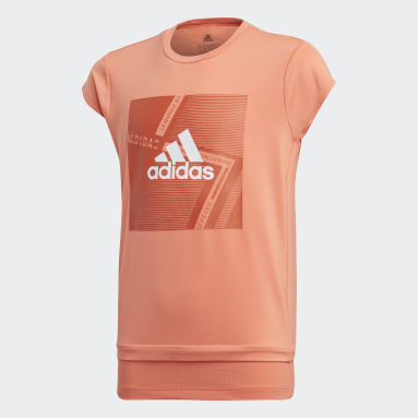 Mädchen Yoga Branded T-Shirt Orange