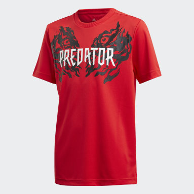 T-shirt Predator Graphic Rouge Garçons Fitness Et Training