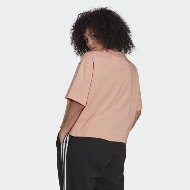 Ženy Sportswear růžová Tričko 4 Crop Logo (plus size)