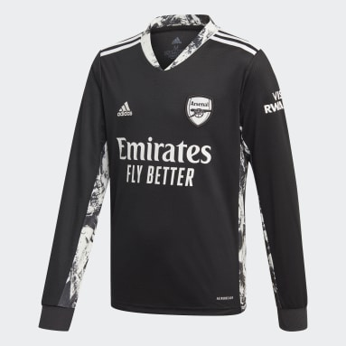 Kids Football Black Arsenal Home Goalkeeper Jersey