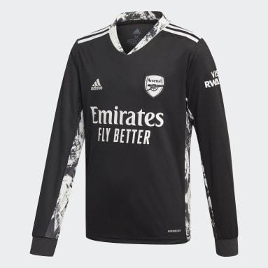 Děti Fotbal černá Domácí dres Arsenal Goalkeeper