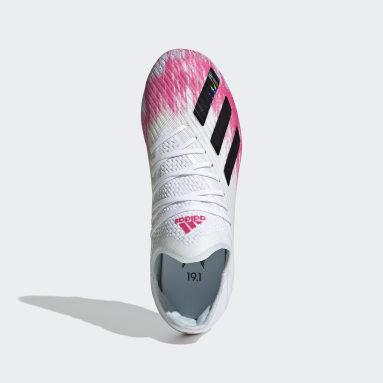 Chaussure X 19.1 Terrain souple Blanc Enfants Football