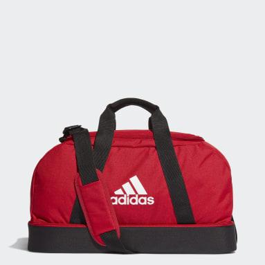 Football Red Tiro Primegreen Bottom Compartment Duffel Bag Small