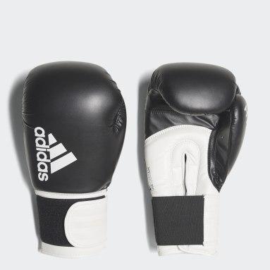 Boksning Sort Hybrid 100 boksehandsker