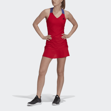 Women Tennis Red Tennis Primeblue Y-Dress