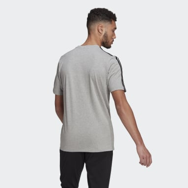 Essentials 3-Stripes Tee Szary