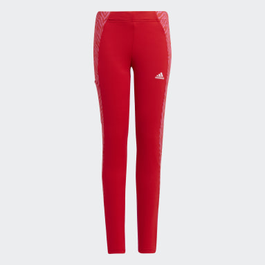 Girls Lifestyle Red Designed 2 Move Seasonal Tights