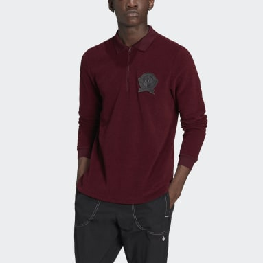 Polo Collegiate Crest Bordeaux Hommes Originals