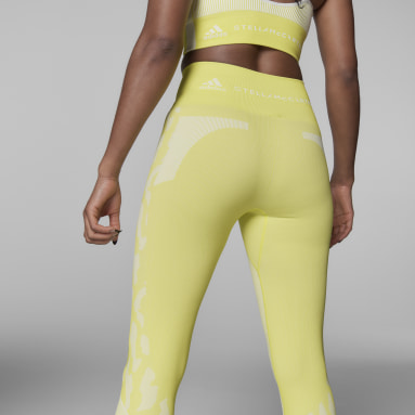 Tight adidas by Stella McCartney TruePurpose Seamless Jaune Femmes adidas by Stella McCartney