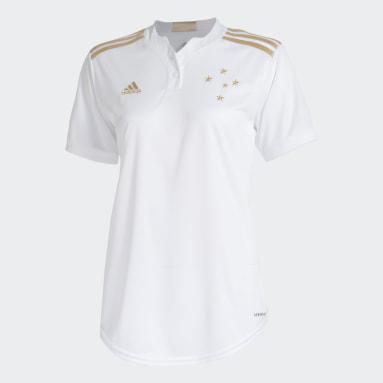 Camisa 2 Cruzeiro 21/22 Branco Mulher Futebol