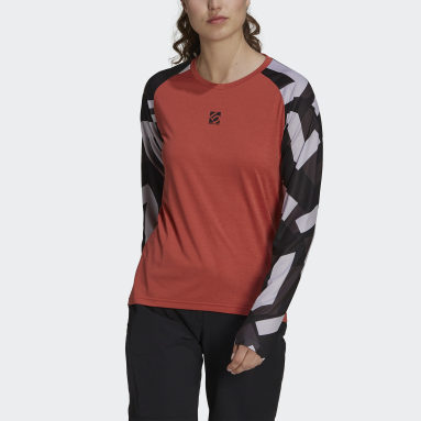 Maglia Five Ten TrailX Long Sleeve Rosso Donna Five Ten