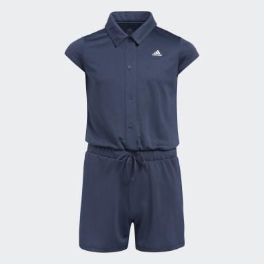 Mädchen Golf Jumpsuit Blau