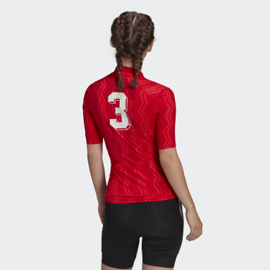Women Cycling Red The Short Sleeve Cycling Graphic Jersey