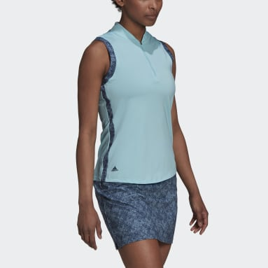Women Golf Blue Ultimate365 Sleeveless Polo Shirt
