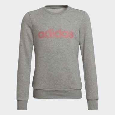 Girls Sportswear Grey Linear Sweatshirt