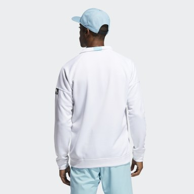 Men Golf White Equipment Quarter-Zip Sweatshirt