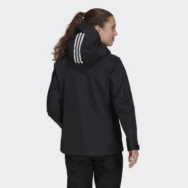 Women TERREX Black Terrex Techrock GORE-TEX PRO Rain Jacket