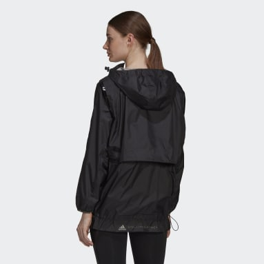 Dam adidas by Stella McCartney Svart adidas by Stella McCartney TruePace Run Jacket WIND.RDY