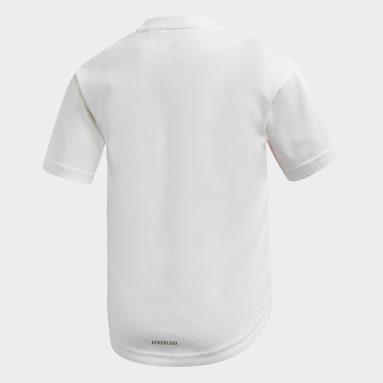 T-shirt Cotton Blanc Filles Fitness Et Training