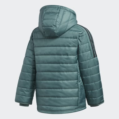 Boys Gym & Training Green Puffer Jacket