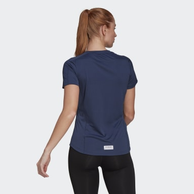Women Running Blue Run for the Oceans Graphic Tee