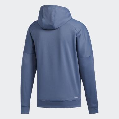 Men Sportswear Blue Badge of Sport Grid Team Issue Hoodie