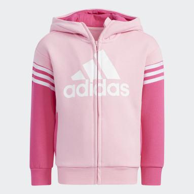 Kids Training Pink Badge of Sport Fleece Set