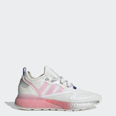 Women's Originals White ZX 2K Boost Shoes