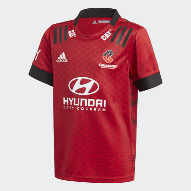 Boys Rugby Red Crusaders Rugby Home Replica Jersey