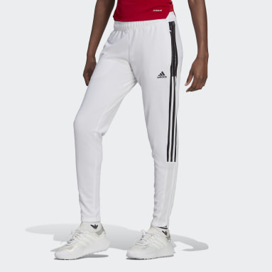 Women Soccer White Tiro Track Pants