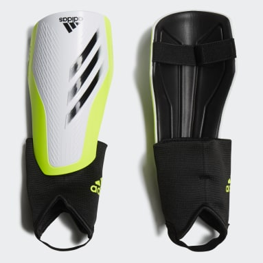 Youth 8-16 Years Football White X Match Shin Guards