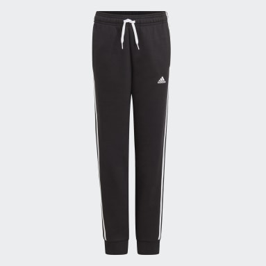 Boys Sport Inspired Black adidas Essentials 3-Stripes Pants