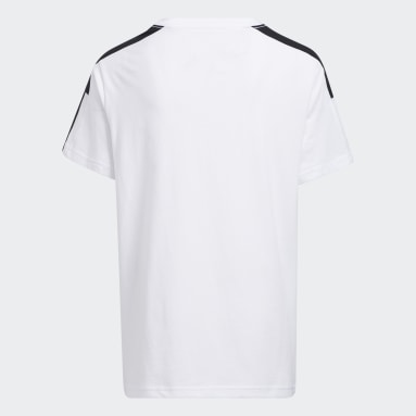 Youth Training White Colorblock 3-Stripes Tee