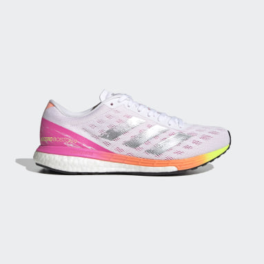 Women's Running White Adizero Boston 9 Shoes