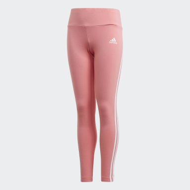 Meisjes Fitness En Training Roze 3-Stripes Cotton Legging