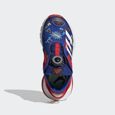 Kids Training Blue Marvel Avengers Spider-Man ActiveFlex Boa Shoes